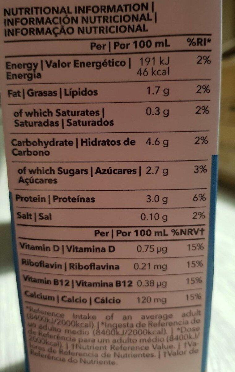Veggie mylk prozis - Nutrition facts