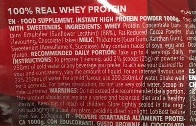 PROZIS - 100% REAL WHEY PROTEIN - Ingrediënten