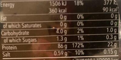 Proteina isolate wild berry - Información nutricional - es
