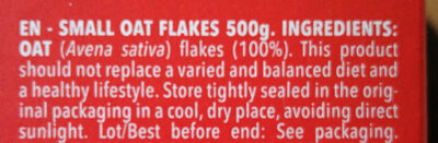 Oat Flakes - Ingredientes