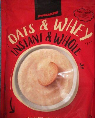 Harina de avena integral y proteína de suero de leche en polvo - Producto