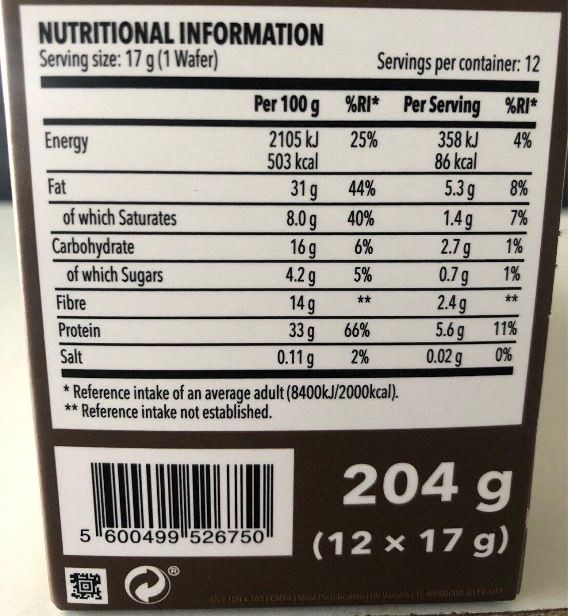 The bomb - Información nutricional
