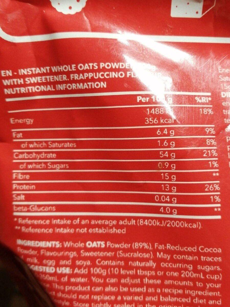 Oatmeal - Información nutricional - es