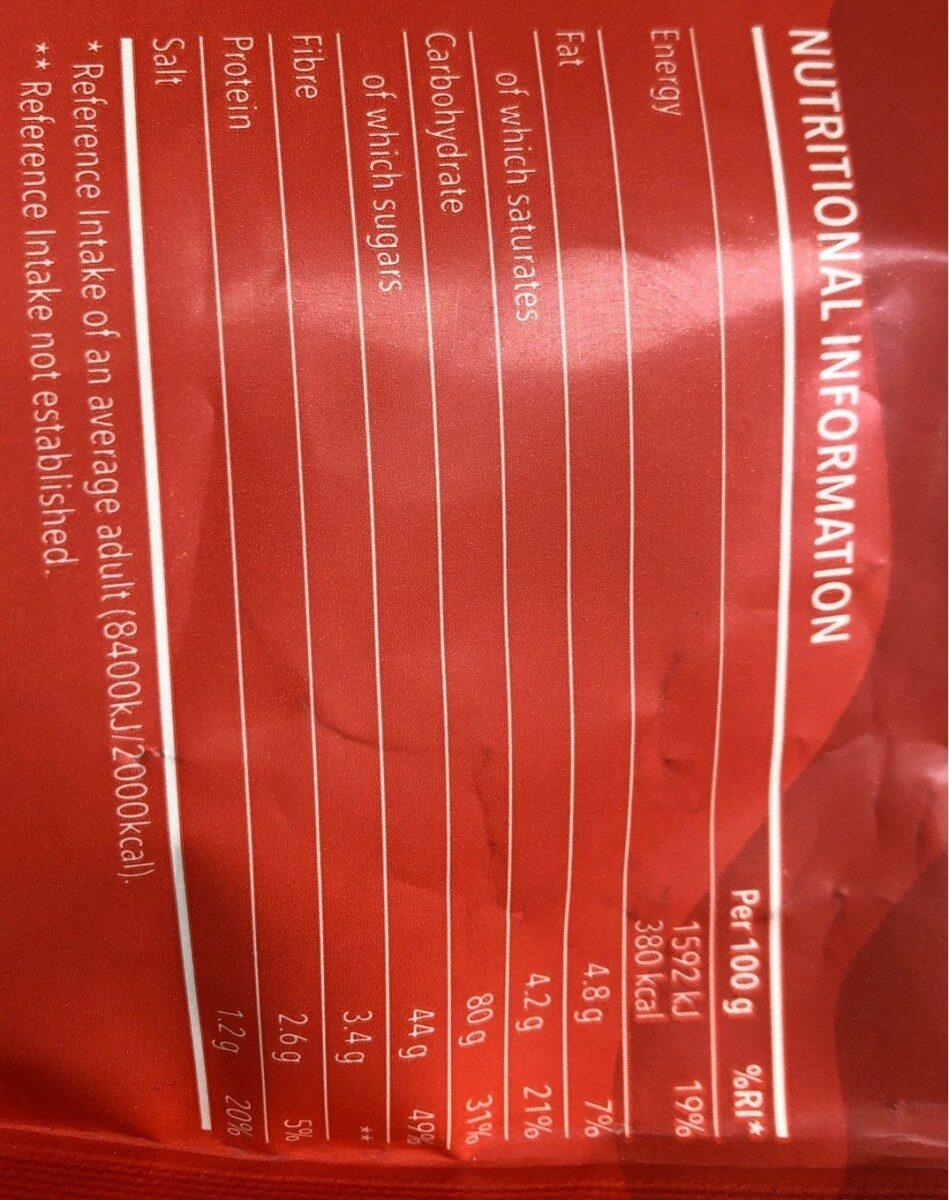 Premix Flour Brownies - Nutrition facts
