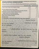 Vegan Burger Chickpea - Información nutricional