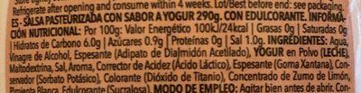 Yogurt Salad Dressing - Nutrition facts
