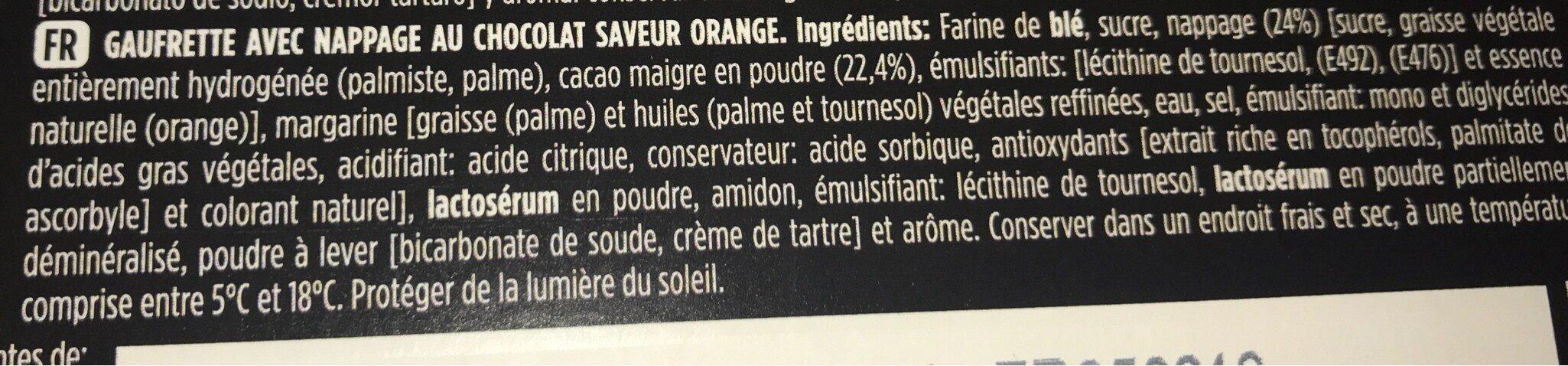 Belga chocolate e laranja - Ingrédients - fr