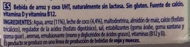 Coco+ Suave - Ingredientes