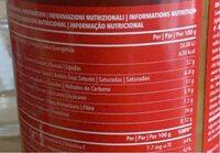 Crema de cacahuete 1000g - Informação nutricional - fr