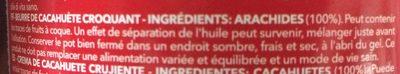 Peanut Butter Crunchy - Ingredienti - fr