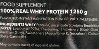 Prozis Sport Real Whey Protein, Vanilla - Ingrédients