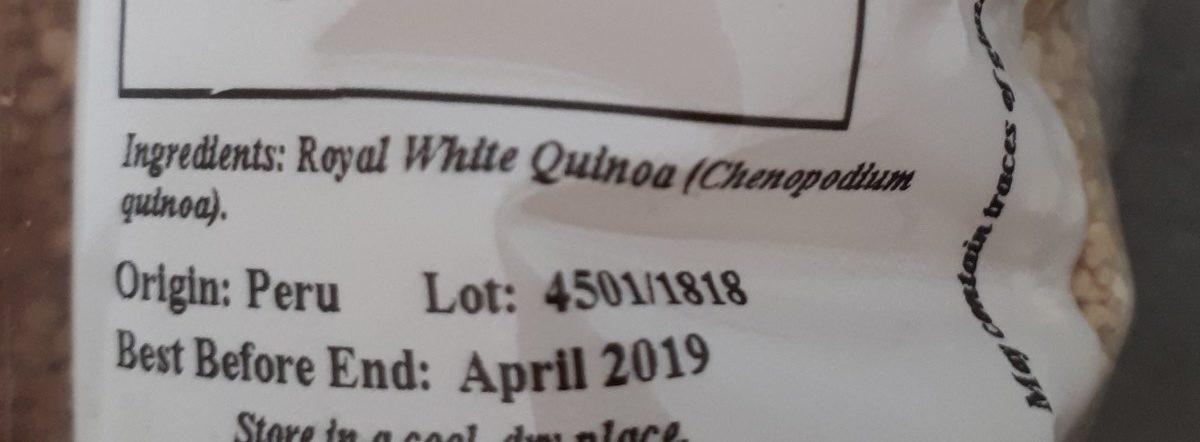 Royal quinoa - Ingrediënten - fr