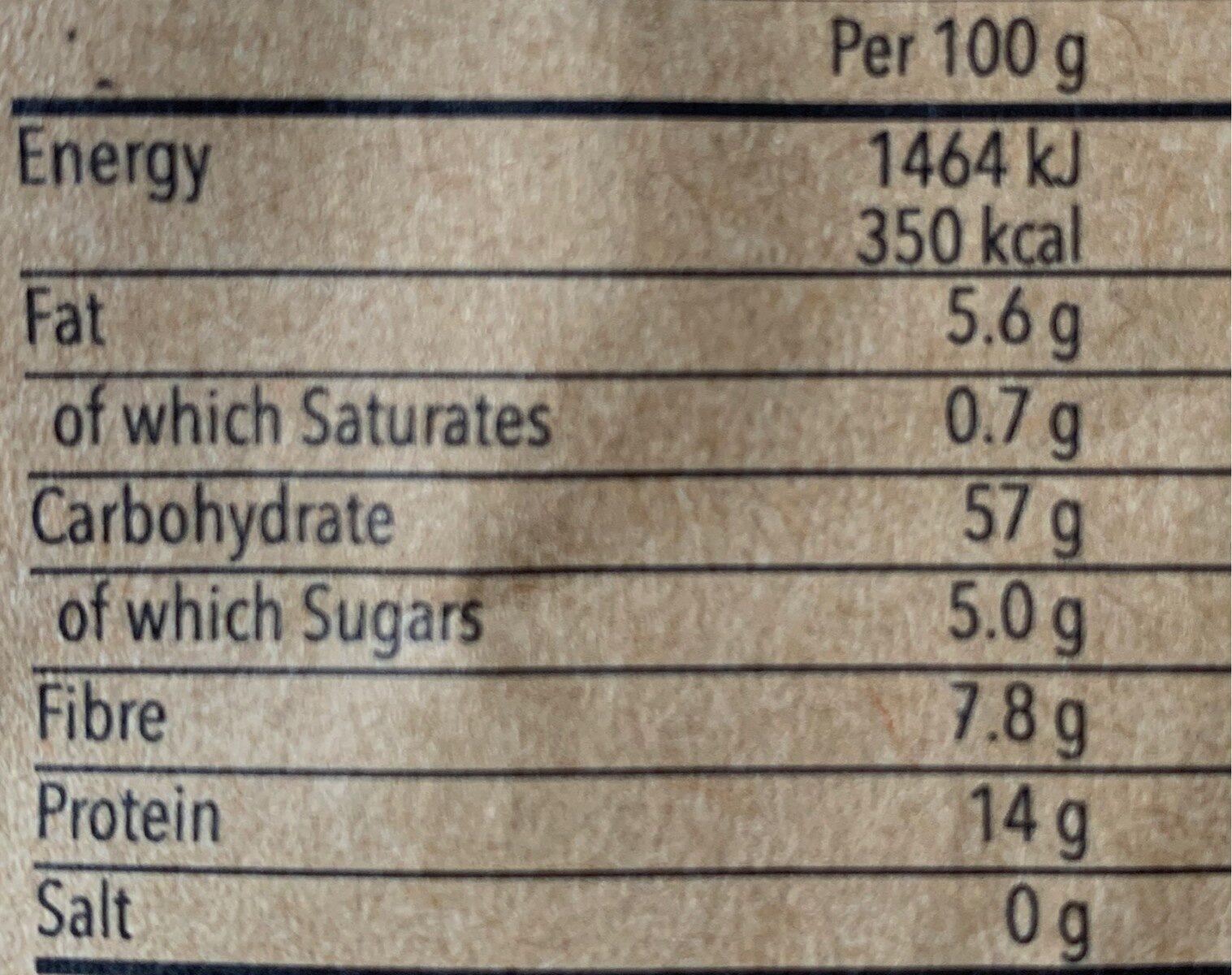 Royal quinoa - Voedingswaarden - fr