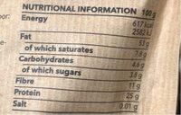 Amande - Informations nutritionnelles - fr