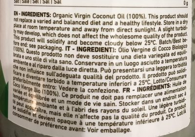 Coconut oil - Ingrédients