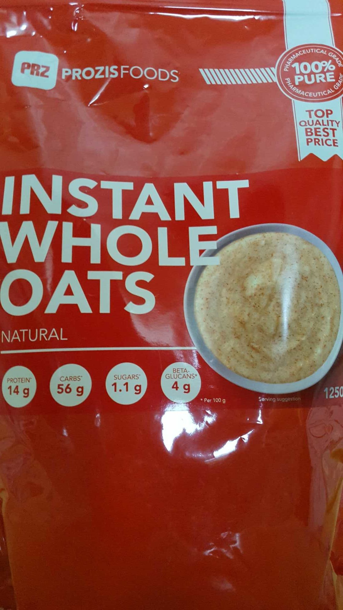 Instant whole oats natural - Product - fr