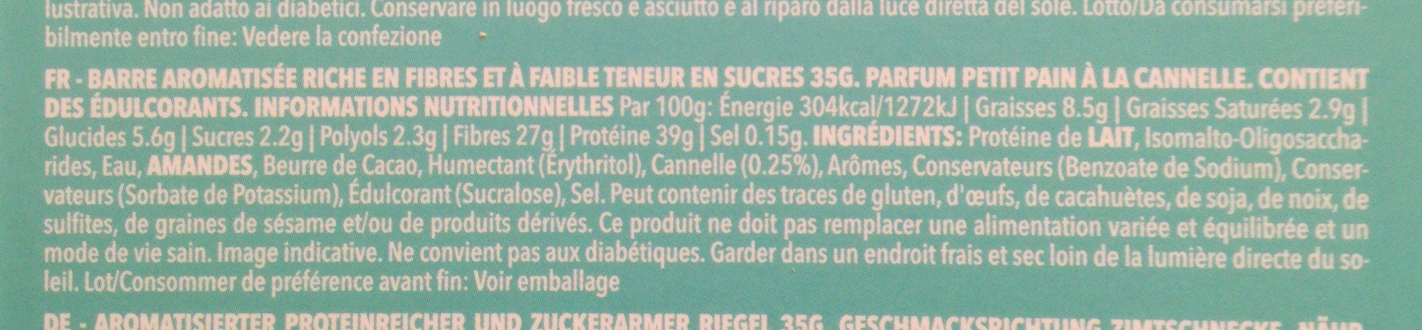 Prozis Diet, Petit Pain à la Cannelle - Ingredientes