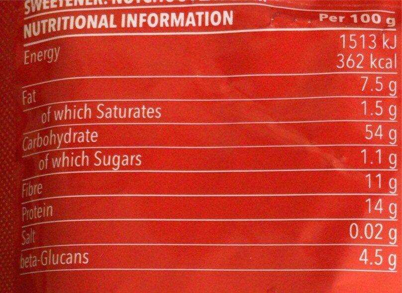 Oatmeal - Voedingswaarden - fr
