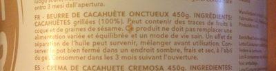 Peanut butter - Ingredientes - fr