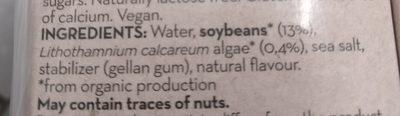 Lait soja bio - Ingrediënten - fr