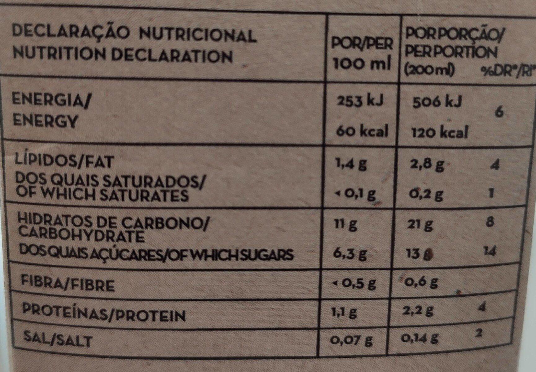 Boisson quinoa - Nutrition facts - pt