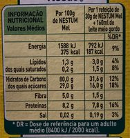 Nestum mel - Nutrition facts