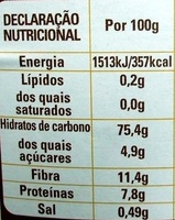 Mokambo - Cereais e Café - Nutrition facts