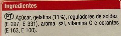 Gelatina sabor Morango - Ingrediënten - pt