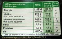 Chocolate Amargo - Informação nutricional
