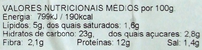 10 Croquetes de carne ultracongelados - Nutrition facts - pt