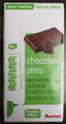 Chocolate 70% sin azúcar añadido