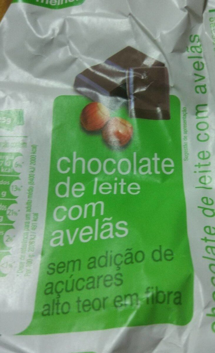 Chocolate de leite con avelãs - Produit