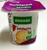 Iogurte pedaços ananás Auchan -