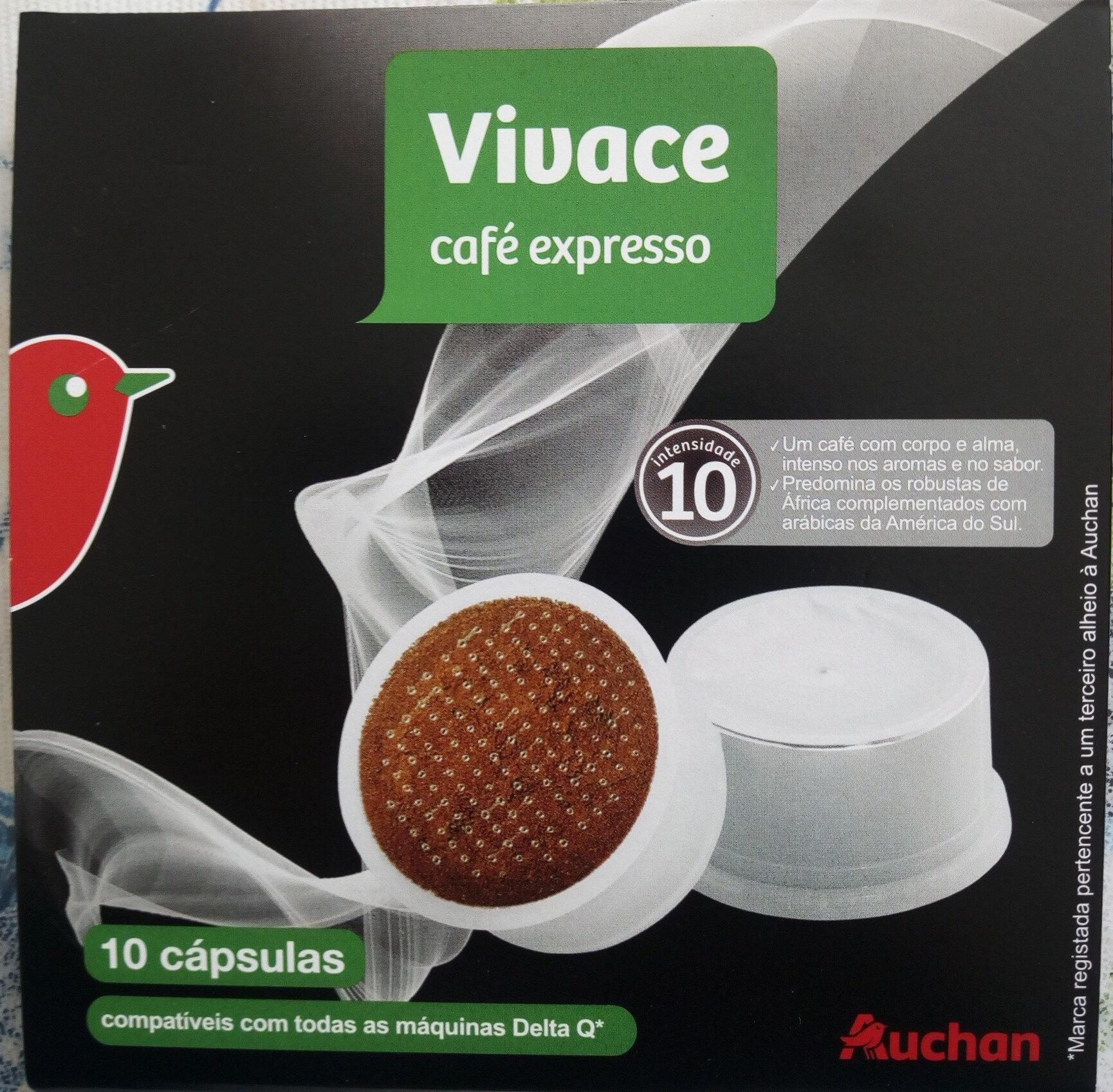 Capsules Café expresso Vivace intensité 10 Auchan - Produit