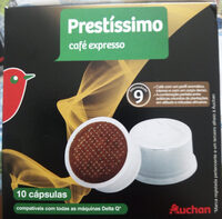 Capsules Café expresso Prestíssimo intensité 9 Auchan - Produit