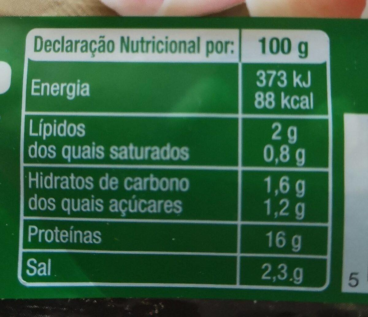 Fiambre da perna extra fatias finas auchan - Informations nutritionnelles