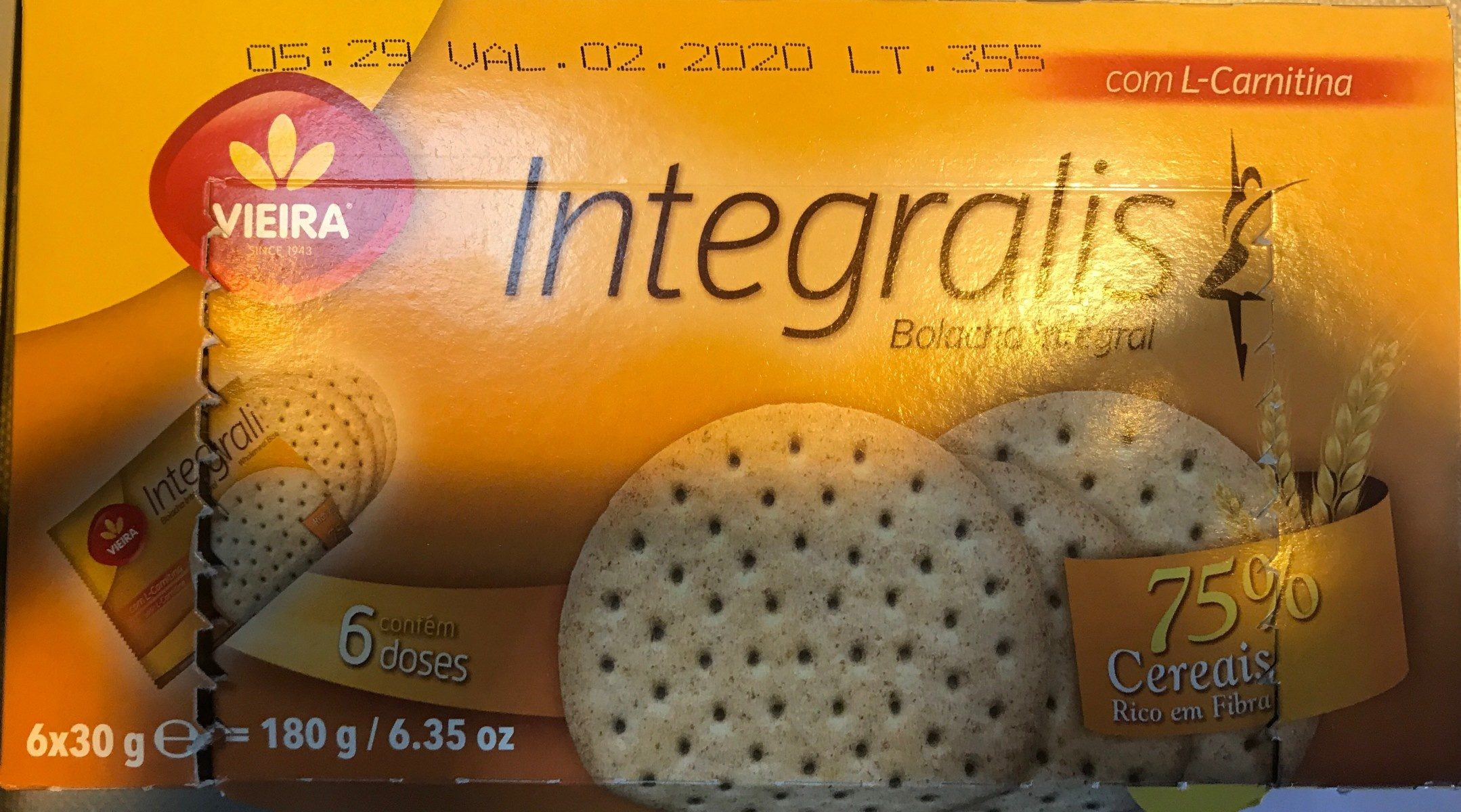 Vieira Integralis Biscuits 175 - Product - fr
