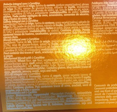 Vieira Integralis Biscuits 175 - Ingrediënten