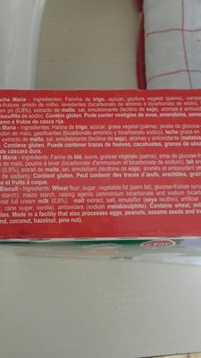 Ruca Bolacha Maria - Ingredients