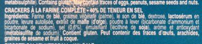 Water cracker - Ingredients - fr