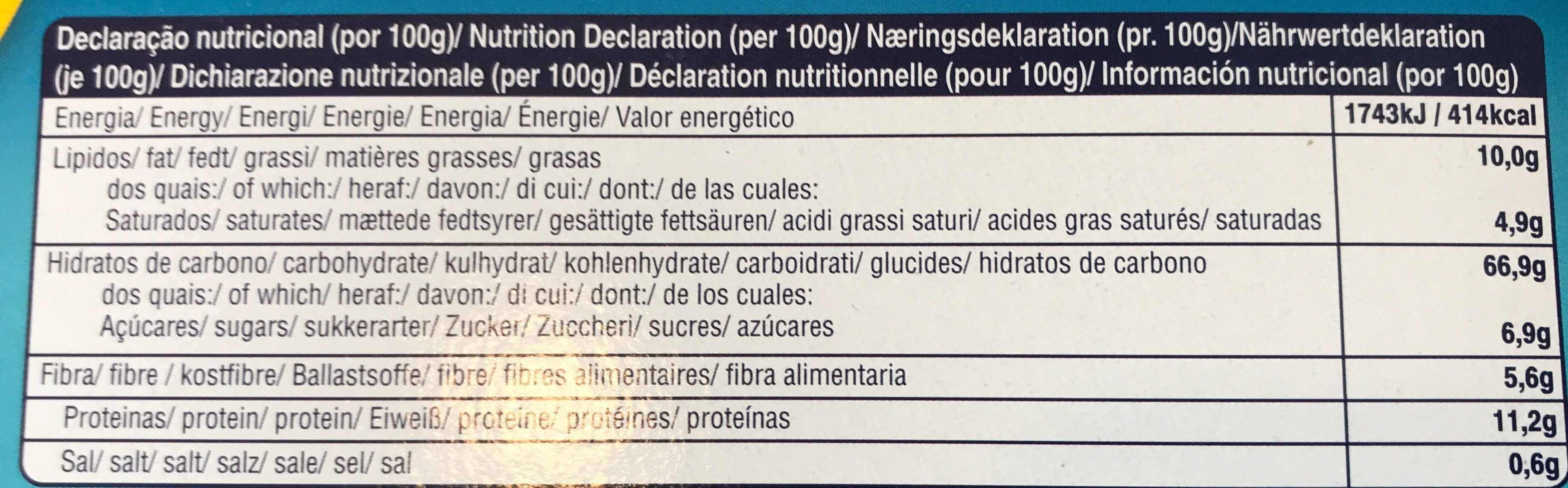 Water cracker - Nutrition facts - fr