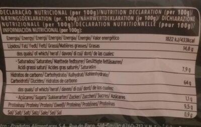 Cream cracker - Nutrition facts - fr
