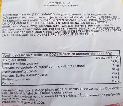 Tipo Francês - Nutrition facts - fr