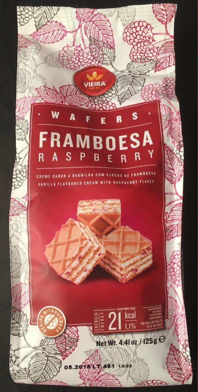 Gaufrette saveur vanille et flocons de framboises - Produit - fr