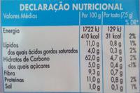 A Sua Tosta – Tosta de Trigo Integral - Informação nutricional - pt