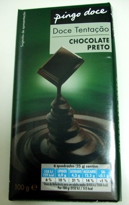Chocolate preto - Product