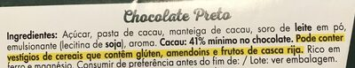 Chocolate preto - Ingredients