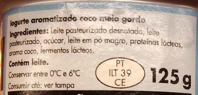 Pingo Doce Simplesmente Aroma Coco - Ingredientes - pt