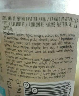 Pepino - Ingrediënten