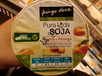 Pura Vida Soja Alperce e Pêssego - Product